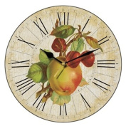 Apples and Cherries Country Kitchen Wall Clock