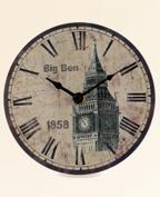Big Ben Rustic London Wall Clock with Roman Numerals