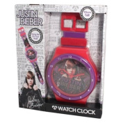 NEW JUSTIN BIEBER OFFICIAL WATCH STYLE HANGING WALL CLOCK XMAS GIFTS