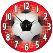 Football Wall Clock in Red