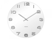 Karlsson Vintage Round Glass Wall Clock, White