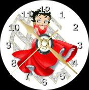 Betty Boop Red Dress Novelty Cd Clock + Free Desktop Stand