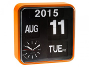 Karlsson Mini Flip Black Dial Wall Clock, Orange