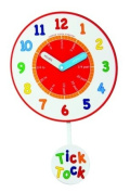 London Clock Co Childrens Learning Tick Tock Wall Clock