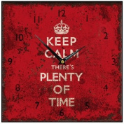 Keep Calm Square Wall Clock