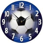 Football Wall Clock in Blue