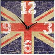 Union Jack Vintage Square Wall Clock