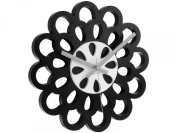 Karlsson Flower Plastic Wall Clock, Black