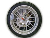 GTec 350mm Dia Alloy Wheel/Tyre Wall Clock