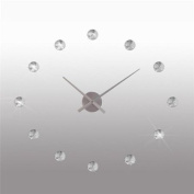 DESIGN WALL CLOCK KRISTALL ~50 cm watch decoration time crystal silver from XTRADEFACTORY