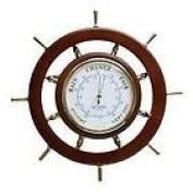 Large Ships Wheel Barometer