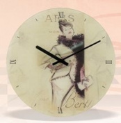 Decorative Glass Paris Wall Mounted Clock