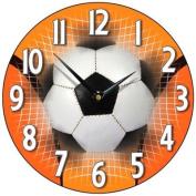 Football Wall Clock in Orange