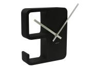 Karlsson Big 9 Plastic Wall Clock, Black