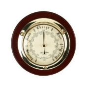 Traditional Brass And Wood Wall mounted Barometer
