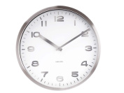 Karlsson Mirror Numbers Steel Case Wall Clock, White