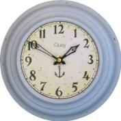 Roger Lascelles, Tin Wall Clock, Blue