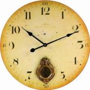 Technoline WT 1020 Aged Effect Finish Wall Clock with Pendulum