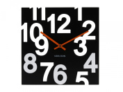 Karlsson Wall Clock Random Wood Black