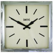 Smiths Smiths Chrome Deco Square Clock