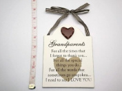 Shabby Chic Grandparents Hanging Wall Plaque