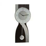 Wm.Widdop Wooden Wall Clock with Mirror Wave & Pendulum