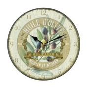 Huile D'Olive Antique Wall Clock
