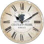Chateau St Pierre Wine Label Wall Clock