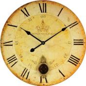 Technoline WT 1021 Aged Effect Finish Wall Clock with Pendulum