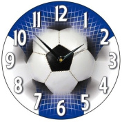 Football Wall Clock in Blue and White