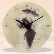 Decorative Glass New York Wall Mounted Clock