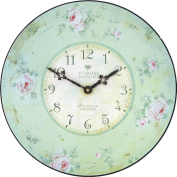 """Nottingham Lacemaker""""s Rose Wall Clock"""