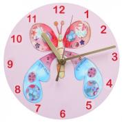 Butterfly Clock,Girl's Clock,Girls Gift,Single Butterfly