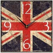 Union Jack Shabby Square Wall Clock