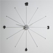 GIANT DESIGN WALL CLOCK ~ 99 cm kitchenclock watch L57 silver from XTRADEFACTORY