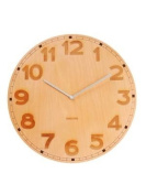 Karlsson Back 2 Basic Wood Engraved Wall Clock