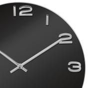 Karlsson Vintage Round Glass Clock - Black