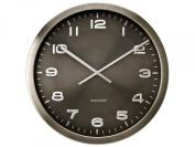 Karlsson Wall Clock Maxie Steel Polished Grey