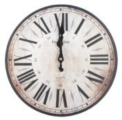 30cm Hometime Wall Clock Stratford Cream Red