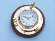 Brass Porthole Clock 25cm