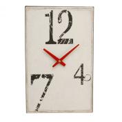 Contemporary Cream Metal Wall Clock - 12, 7 & 4 Numerals