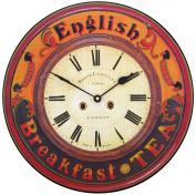 English Breakfast Tea Wall Clock
