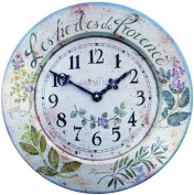 French Tin Herbes Wall Clock