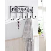 """5 Hooks design coat rack wardrobe """"butterfly"""""""