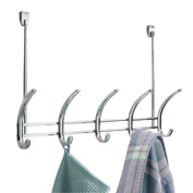 BlissHome Interdesign, Axis Over-the-Door 5 Hook, Polished Chrome