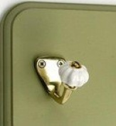Fluted Period Hat / Coat Hook with Ceramic Knob - Various Finishes Available