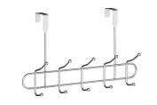 Premier Housewares 10 Hook Over Door Hanger, 43 cm, Chrome