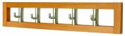 5 Rotating Coat Hooks in Light Wooden Frame Coat Rack