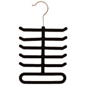 Flocked Soft Tie Belt Rack Organiser Hanger