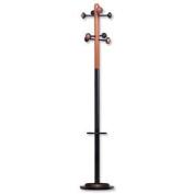 Unilux Accueil Coat Stand Beechwood Solid Head Steel Post Umbrella Stand Metal Grey Ref 3524576M